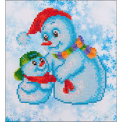 "Snow Family - Diamond Dotz Diamond Embroidery Facet Art Kit 11""X11.75"""
