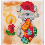 "Puppy Stocking - Diamond Dotz Diamond Embroidery Facet Art Kit 11""X11.75"""