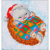 "Snug Christmas Kitty - Diamond Dotz Diamond Embroidery Facet Art Kit 11""X11.75"""