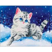 """Kitten In The Snow - Diamond Dotz Diamond Embroidery Facet Art Kit 17""""X13.75"""""""