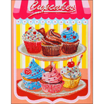 "Cup Cakes - Diamond Dotz Diamond Embroidery Facet Art Kit 19.5""X23.5"""