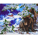 "Rambling Bear - Diamond Dotz Diamond Embroidery Facet Art Kit 23.5""X19.5"""