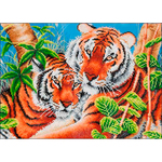 "Tender Tiger - Diamond Dotz Diamond Embroidery Facet Art Kit 23.5""X17"""