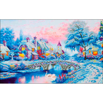 """Winter Village - Diamond Dotz Diamond Embroidery Facet Art Kit 21.75""""X29"""""""