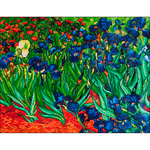 "Irises (Van Gogh) - Diamond Dotz Diamond Embroidery Facet Art Kit 25.25""X34.5"""