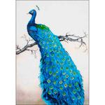 "Blue Peacock - Diamond Dotz Diamond Embroidery Facet Art Kit 25.25""X34.5"""