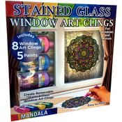 Mandalas - Joy Of Coloring Stained Glass Window Art Clings Kit