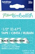 Mint Chevron - P-Touch Embellish Black Print Pattern Tape