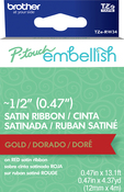 Gold On Red - P-Touch Embellish Satin Ribbon