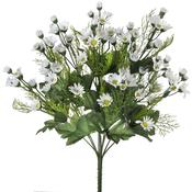"""White - Mini Daisy Bush X12 18"""""""