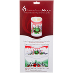 "Christmas Ornament - Candle Wrap 3.5""X5"" 2/Pkg"