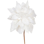 White - Poinsettia Pick