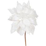 White - Poinsettia Pick