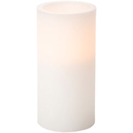 White - Battery Operated LED Pillar Candle W/Timer 6""
