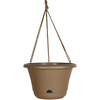 Chocolate - Bloem Hanging Basket 13  Bloem/Adp-Hanging Basket. The perfect addition to your garden or home decor! This package contains one 9x13x13 inch hanging basket with an attached self-watering try and one matching macrame hanger. Comes in a variety of colors. Each sold separately. Made in USA.