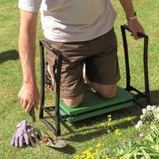 Black/Green - Gardman Foldaway Garden Kneeler & Seat