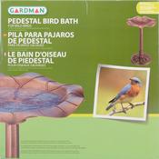 Lily Leaf, Copper Effect - Pedestal Resin Bird Bath