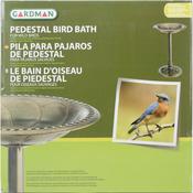 Anitque Bronze Effect - Pedestal Resin Bird Bath