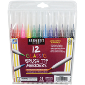 Classic Brush Tip Markers 12/Pkg