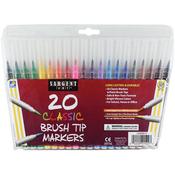 Classic Brush Tip Markers 20/Pkg