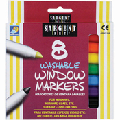 Washable Window Markers 8/Pkg