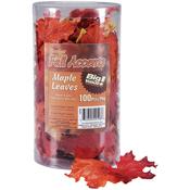 Orange Mix - Silk Maple Leaves 100/Pkg
