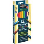 Triangular Colored Pencils 12/Pkg