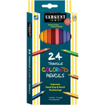 Triangular Colored Pencils 24/Pkg