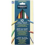 Jumbo Triangular Colored Pencils 10/Pkg