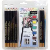 Watercolor Pencil Drawing Set 19/Pkg