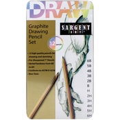 Drawing Pencil Tin Set 12/Pkg