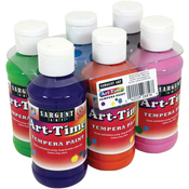 Secondary - Art-Time(R) Tempera Paint Set 4oz 6/Pkg