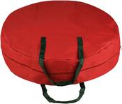 """Red, 30""""X8"""" - Elf Store Canvas Supreme Wreath Storage Bag"""
