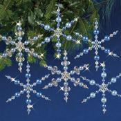Blue Snowflakes - Nostalgic Christmas Beaded Crystal Ornament Kit