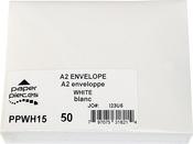 White - A2 Envelopes 50/pkg