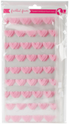 "Pink Heart - Freckled Fawn Printed Clear Plastic Double Pouch 8.5""X4.5"""