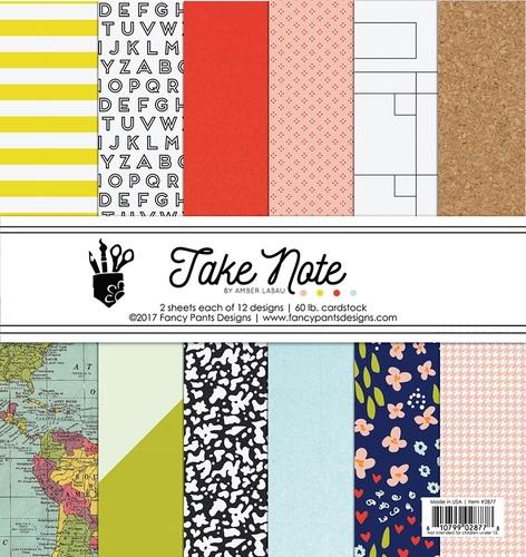 Take Note 6 x 6 Paper Pad - Fancy Pants - PRE ORDER
