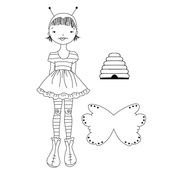 Bee Girl Julie Nutting Doll Stamp - Prima