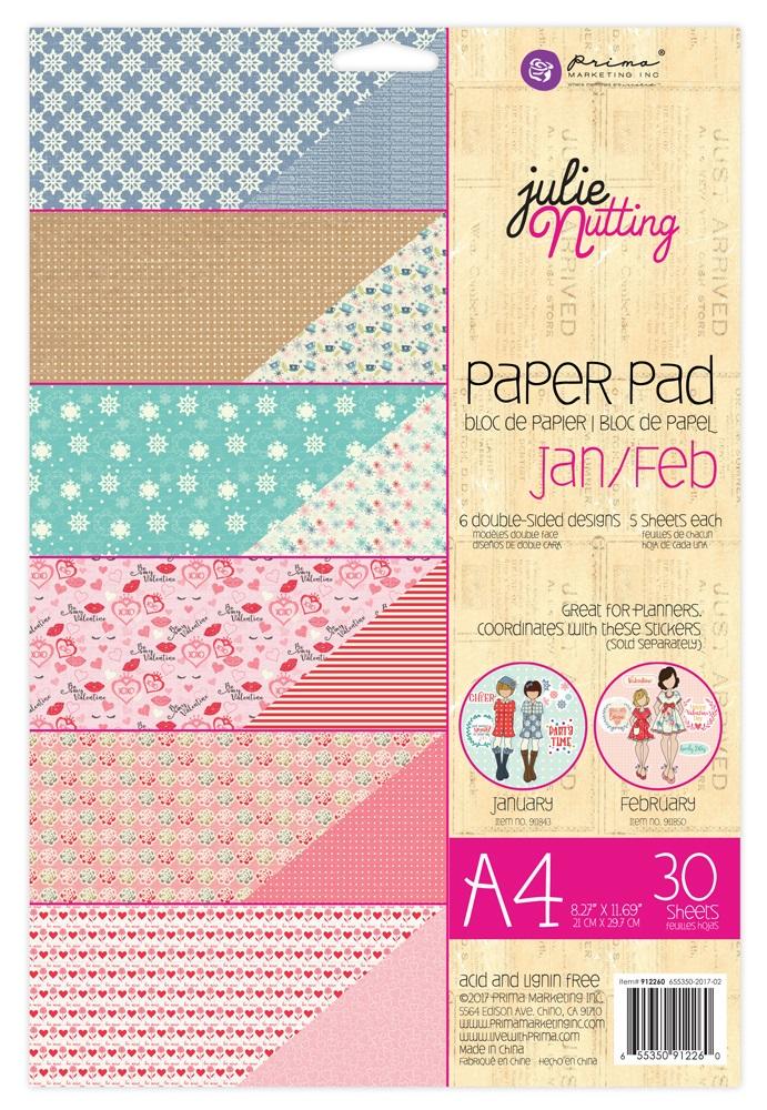 Jan - Feb A4 Julie Nutting Paper Pad - Prima