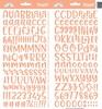 Coral Abigail Alpha Stickers - Doodlebug