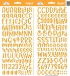 Tangerine Abigail Alpha Stickers - Doodlebug