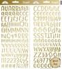 Gold Foil Abigail Alpha Stickers - Doodlebug