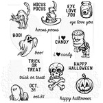 """Scared Silly - Tim Holtz Cling Stamps 7""""X8.5"""""""