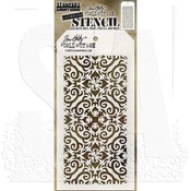 "Flames - Tim Holtz Layered Stencil 4.125""X8.5"""