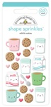 Milk & Cookies Shape Sprinkles - Doodlebug