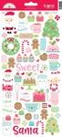 Milk & Cookies Icon Stickers - Doodlebug