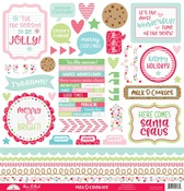Milk & Cookies This & That Sticker Sheet - Doodlebug
