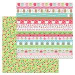 Merry Berries Paper - Milk & Cookies - Doodlebug
