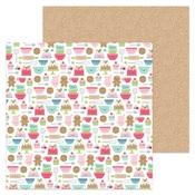 Santa's Sweets Paper - Milk & Cookies - Doodlebug