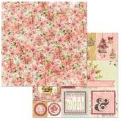 Floral Paper - Carousel Christmas - Bo Bunny